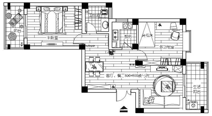 小房子的几种平面设计,请高手指点那种好,拜托了1图片