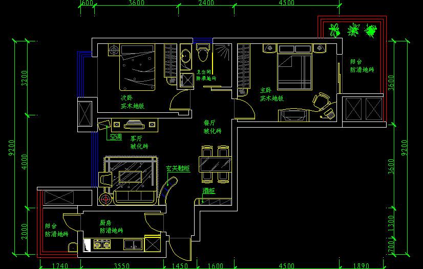 095月26号装修房子(附房型图)-a2户型-新pp ---86平方、a2户型-欢
