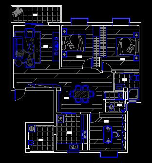 8号楼一单元120平方方案设计图