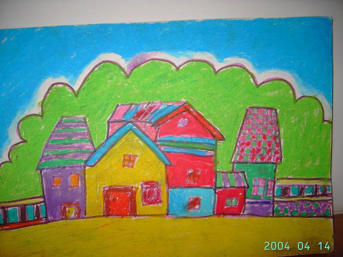 儿子的绘画作品