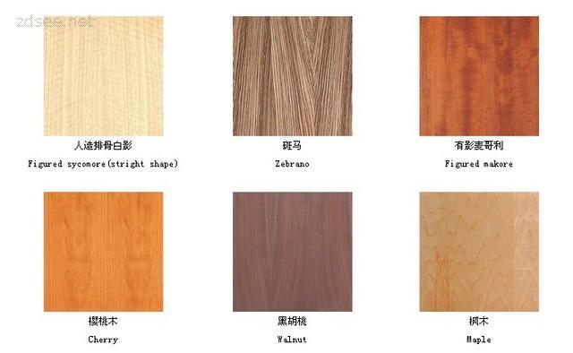装修常用木材饰面识别图样