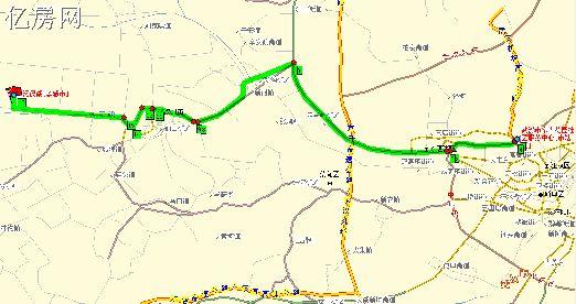 延安市宝塔区长青路电视台地图