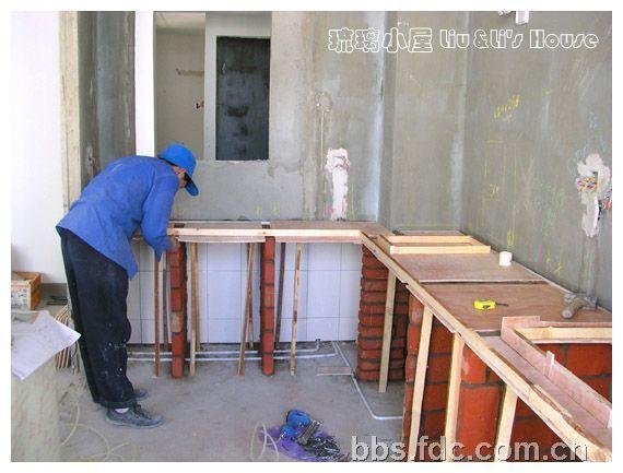 砖砌厨房灶台步骤图(570x433)-农村砖砌狗窝设计图 室外砖砌狗窝