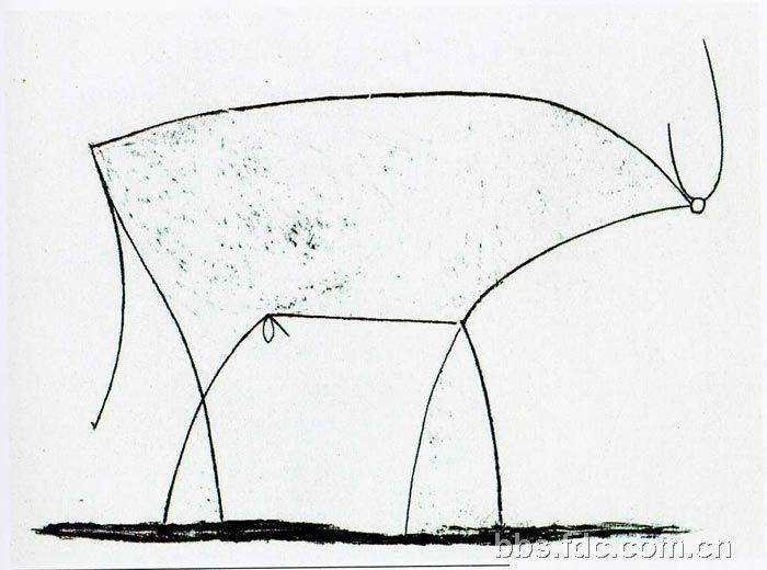 牛怎么画简单又可爱