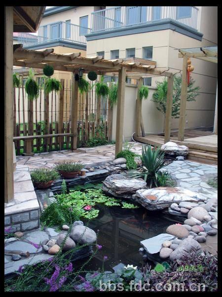 别墅庭院,空中花园,露台