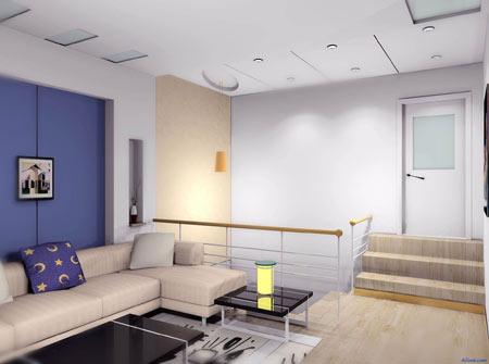 简约电视背景墙 大气客厅装修效果图