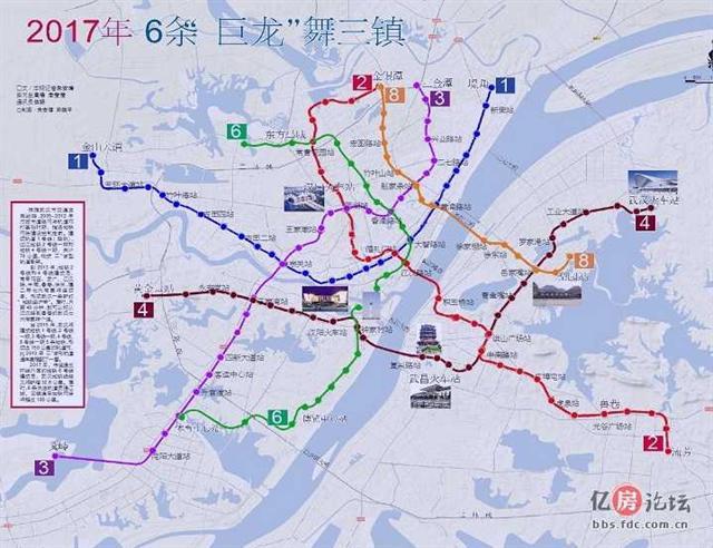 武汉市地铁规划图
