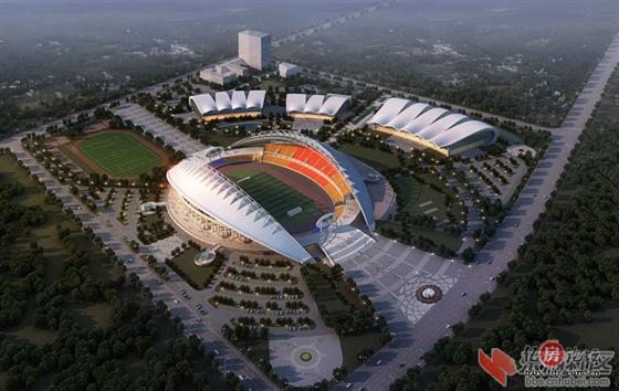 黄冈市体育中心设计图,很漂亮的说