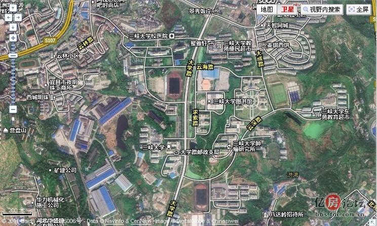 宜昌地区卫星图终于更新!