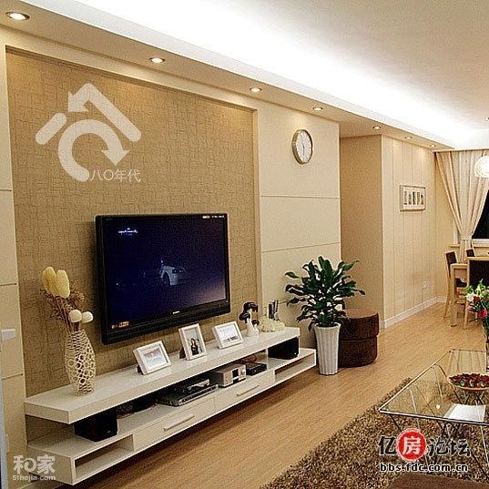 客厅天花吊顶尺寸比电视背景墙长