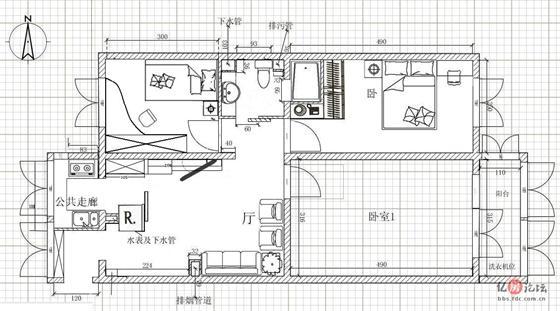 欧式门洞平面图