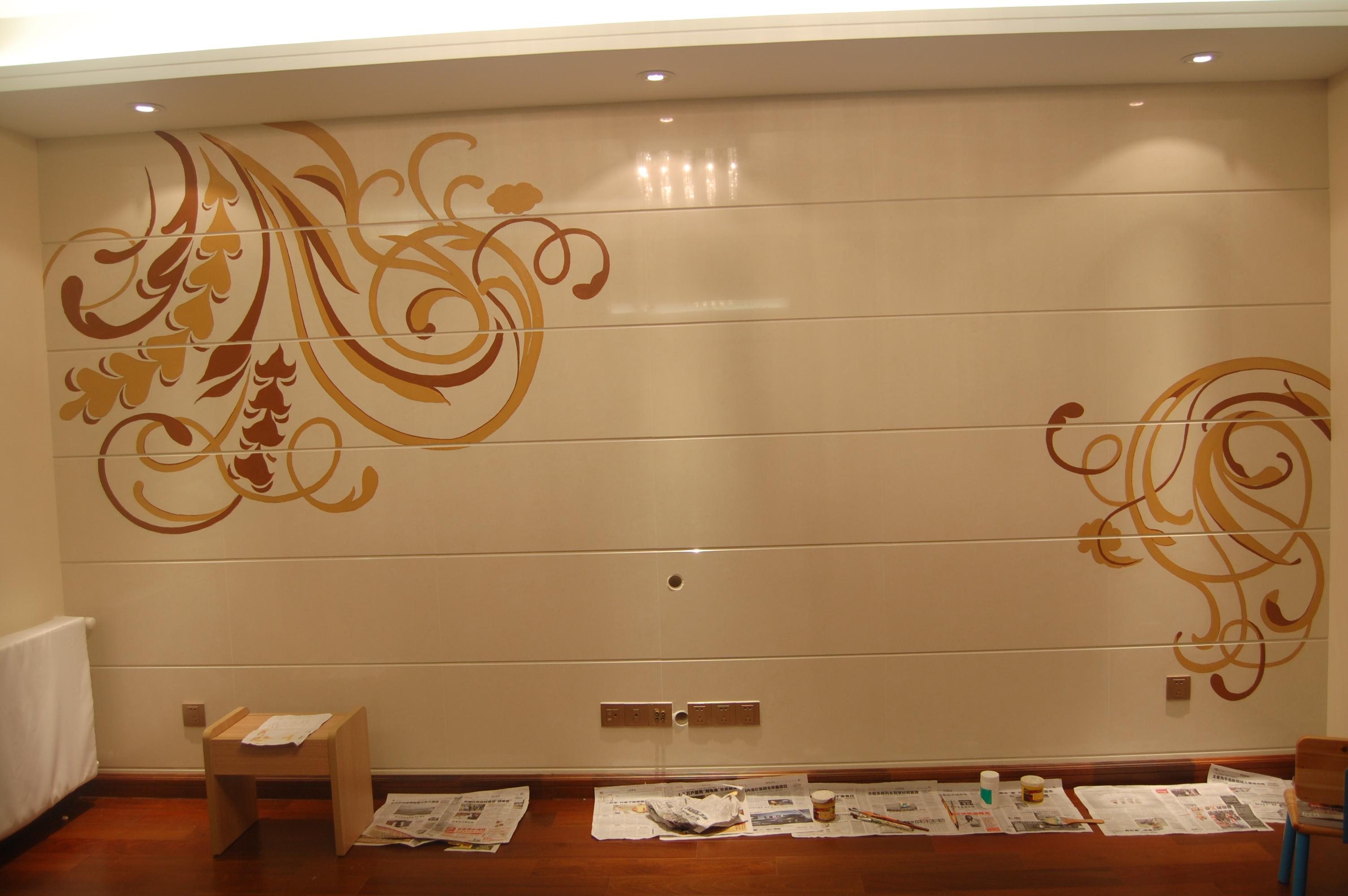 美丽的手绘墙
