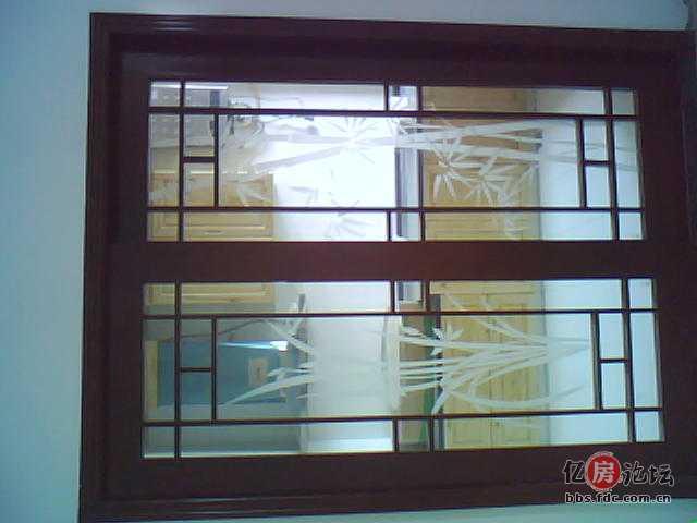 厨房木工做的 梭门