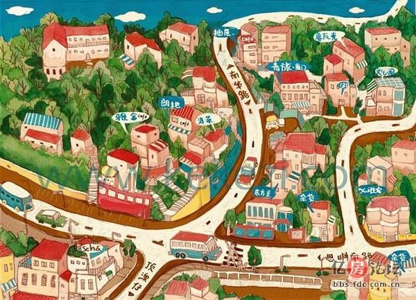 木有决定放假去鼓浪屿的 厦门 鼓浪屿手绘地图全攻略,记得收藏哦