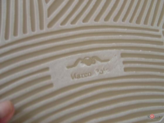 装修 鸿图/瓷砖后面的商标标记