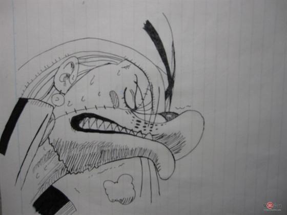 【手绘】关于海贼王的一些黑白手绘(黑签字笔)
