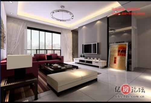 大江天际90平米三室两厅一卫 方案以及效果图高清图片