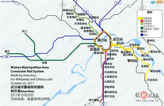 武汉城际铁路地图