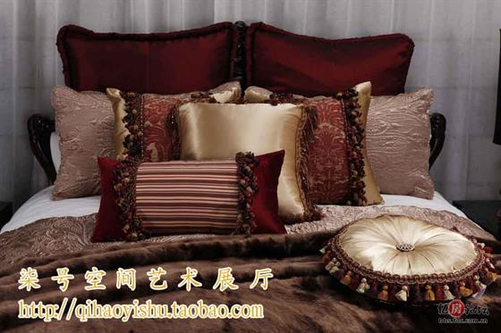 欧式风格的样板房床品