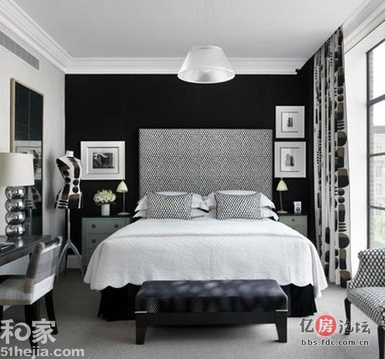 家居时尚墙面要颜色 11个精彩卧室样板间棕色的墙面自然质高清图片