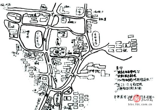 三峡大学校园手绘地图 img1.fdc.com.cn 宽639x444高