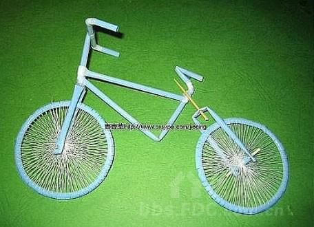 精美吸管手工自行车工艺品
