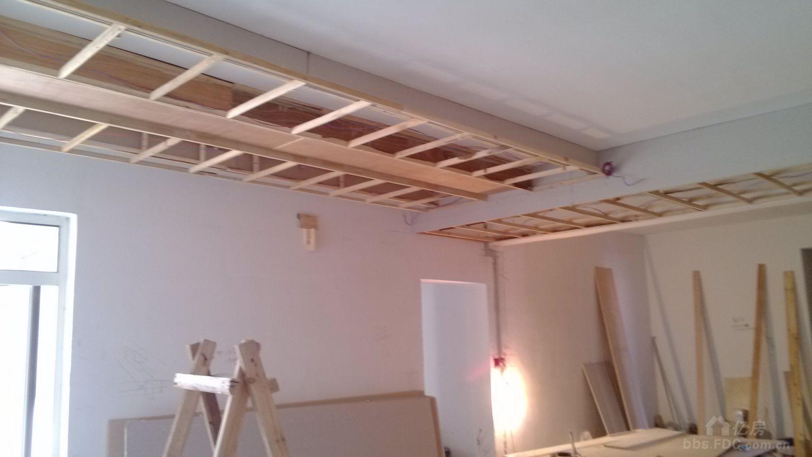 木质格栅吊顶施工节点大样图