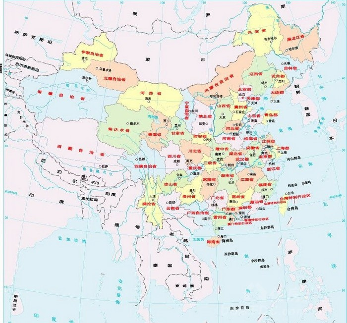 未来中国的省份格局地图