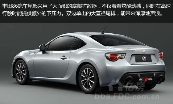 丰田86跑车3月12日在上海上市,推出2款,售价26.9-27.