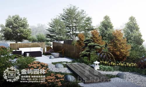 竹子庭院手绘效果图