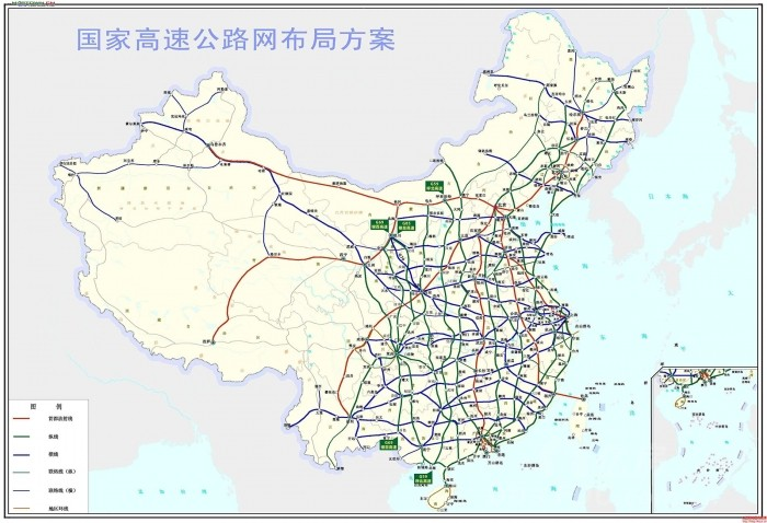 个人推测的国家公路网规划(2013-2030年)新增线路