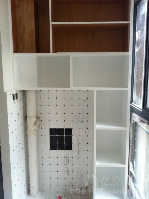 阳台放洗衣机装修效果图—土拨鼠装饰设计门户   阳台洗衣机