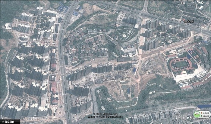 谷歌地图宜昌城区大面积更新 城东建筑群VS发展建筑群