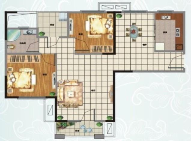 装修风格:新中式风格   房屋户型:两居室   建筑面积:87平米   设计