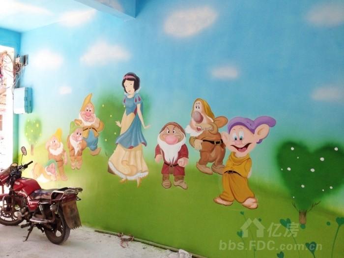 咸宁崇阳白霓镇幼儿园手绘墙
