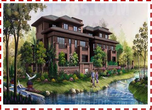 690亩城市别墅区       联投半岛一品,精心建造起湖区别墅,有注重
