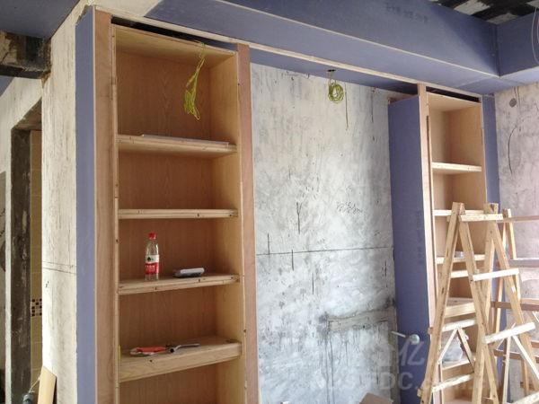 木工餐厅隔断酒柜