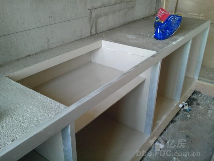 武漢水泥瓷磚櫥柜制作步驟