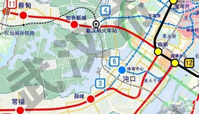 规划中的地铁18号直达新汉阳火车站,换地铁4号可以去武昌火车站,武