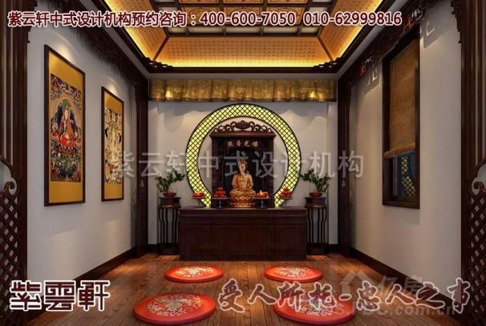 的象征,此间,仿古的烫金雕饰床,配饰以左右的床头小柜,雕刻精细