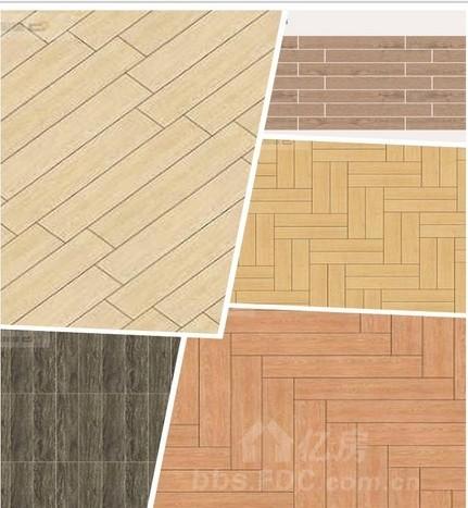 木纹砖效果初显