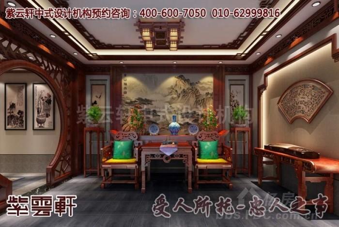 现代中式装修效果图_江苏扬州唐郡别墅设计案例赏析