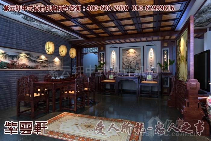 别墅简约中式装修效果图案例赏析 低调奢华的古典风格