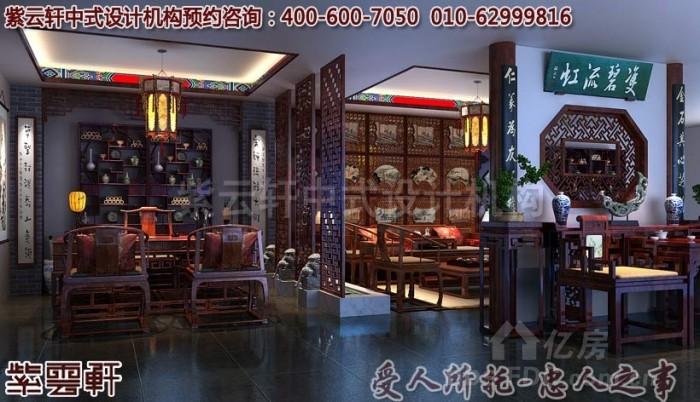 古典意韵的红木家具店面展厅中式装修效果图赏析