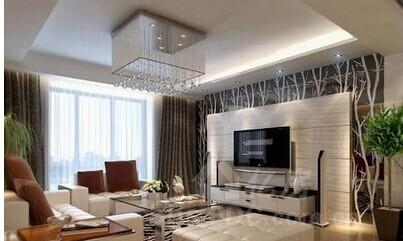 做成极具展示意味的电视背景墙,如欧式古典的琉璃制品和壁面装饰,配以