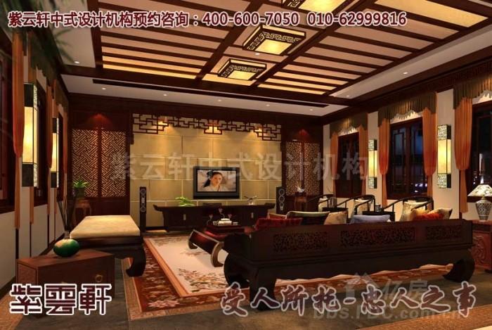 豪宅别墅中式装修效果图欣赏-展现含蓄的美