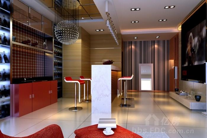 室内装修吧台位置设计的讲究-装修讨论-亿房论坛-亿