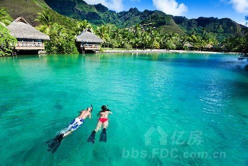 住宿推荐:洲际酒店大溪地度假村