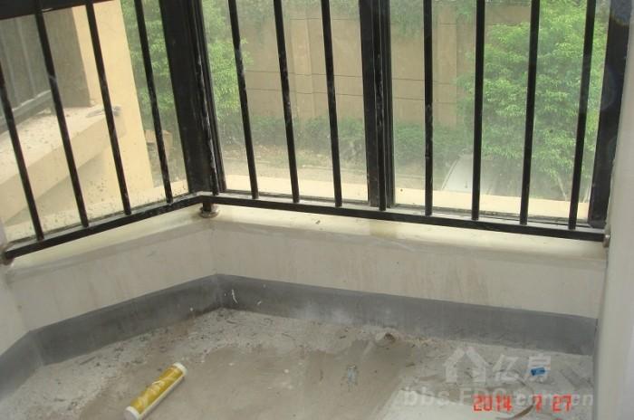 圆角窗台贴瓷砖