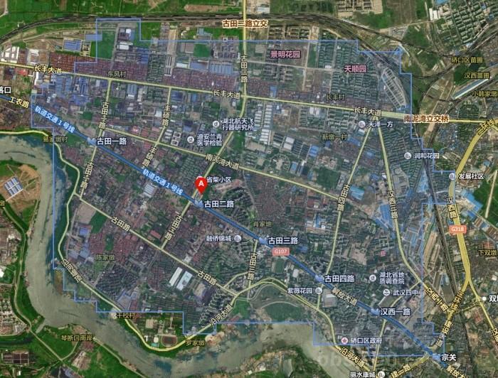 古田县城区地图